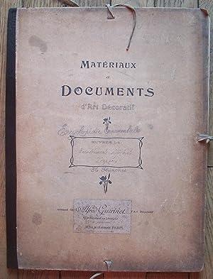 MATÉRIAUX et DOCUMENTS d'ART DÉCORATIF - Encyclopédie