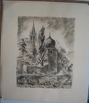 TERRE D'ALSACE - 7 Lithographies Originales par Alfred SELIG: alfred SELIG