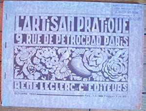 Catalogue de l'ARTISAN PRATIQUE - Octobre 1923
