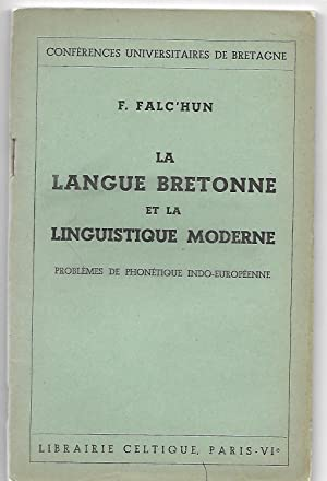la LANGUE BRETONNE et la LINGUISTIQUE MODERNE