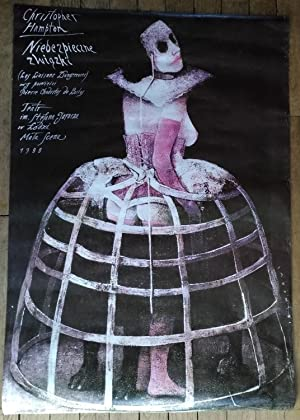 Dangerous Liaisons by Christopher Hampton, original Polish art poster by Wiktor Sadowski
