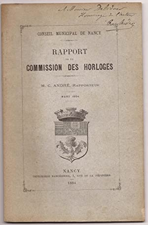 Rapport de la COMMISSION des HORLOGES