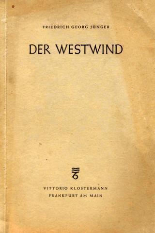 Der Westwind. Ein Gedichtband.