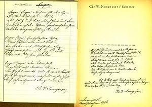 Sommer. Gedichte.: Nungesser, Chr. W.: