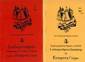 Leichenpredigten-Sammlung (auch einige Hochzeitspredigten) im Besitz der ev.- luth. St. Mang-Kirche...