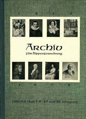 Archiv für Sippenforschung [und alle verwandten Gebiete] mit Praktischer Forschungshilfe. ...