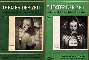 Theater der Zeit. Blätter für Bühne, Film und Musik. 2. Jahrgang. Hrsg. Fritz Erpenbeck.