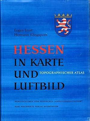 Hessen in Karte und Luftbild. Topographischer Atlas, Teil I. Hrsg. vom Hessischen ...