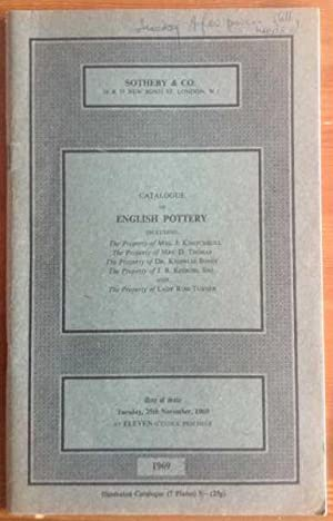 Catalogue of English pottery comprising medieval pottery: Sotheby & Co.
