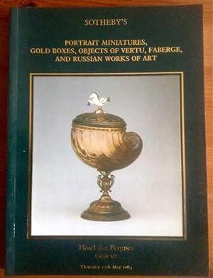 Portrait Miniatures, Gold boxes, objects of vertu,: Sotheby's Geneva