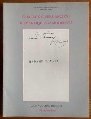 Précieux Livres Anciens, Romantiques & Modernes. Autographes,: Nouveau Drouot