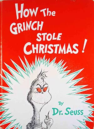 How The Grinch Stole Christmas Book Cover.Seuss Grinch Stole Christmas Abebooks