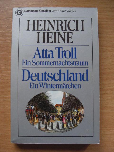 Atta Troll Ein Sommernachtstraum Deutschland Ein Wintermärchen.: Heine: