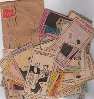 Forty 'Flapper Fanny Says' Panels, cut, handcolored