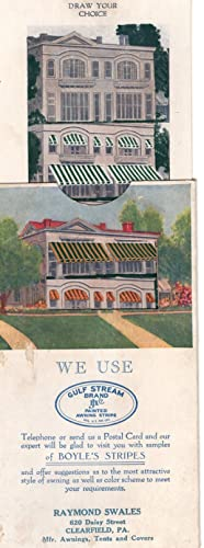 1926 Awning Ad, Sliding Card To Show Color Options: 'John Boyle's Gulf Stream Brand ...