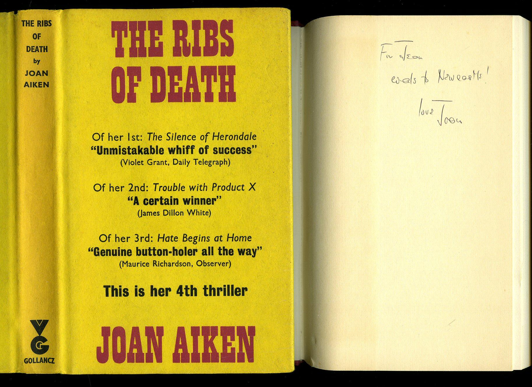The Ribs of Death [Signed] Aiken, Joan [1924-2004] Hardcover