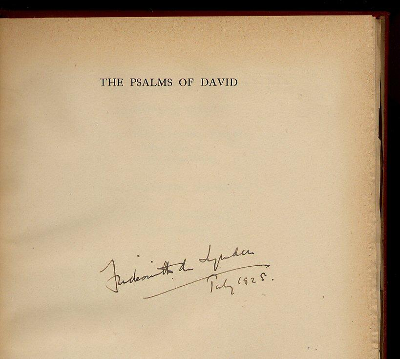 The Psalms Of David Coverdales Version Signed By Edited With An