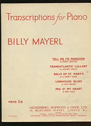 Piano Transcription Billy Mayerl Piano Sheet Music: Mayerl, Billy [Joseph