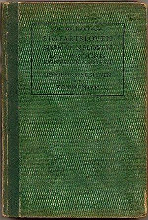 Sjøfartsloven og Sjømannsloven samt Konnossements Konvensjonsloven og: Haxthow, Viktor