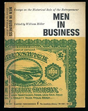 Men In Business; Essays on the Historical: Cole, Arthur H.