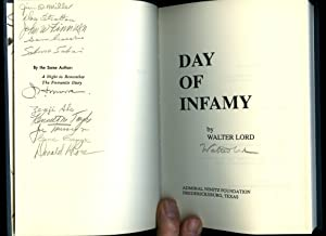 Day Of Infamy; Pearl Harbour December 7th 1941 [Multiple Signed x 12] Special 50th Anniversary ...