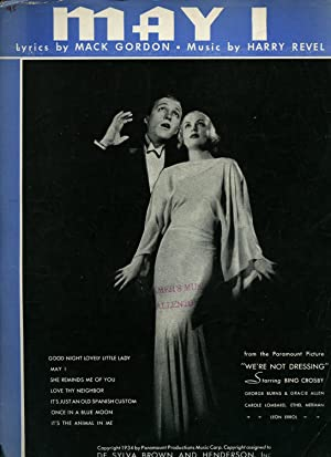 May I [Vintage Piano Sheet Music] From: Bing Crosby [Harry