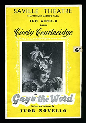 Gay's The Word' - A new Musical: Ivor Novello [Starring