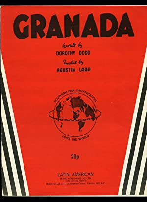 Granada Fantasia Espanola [Vintage Piano Sheet Music]: Dorothy Dodd and Agustin Lara