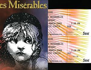 Les Miserables: Souvenir Theatre Programme Performed at: Alain Boublil and