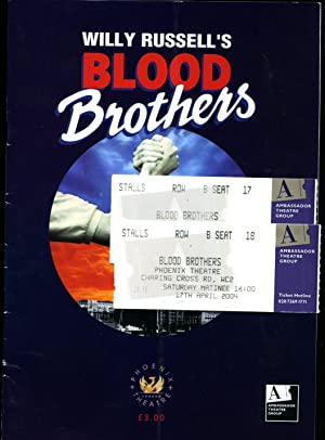 Blood Brothers: Souvenir Theatre Programme Performed at: Willy Russell [Lyn