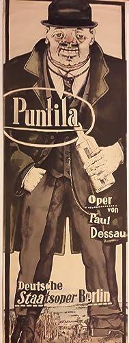 Original Vintage German Theatre Poster | Puntila: Poster Artwork Designed