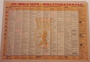 Original Vintage German Theatre Poster Advertising Productions