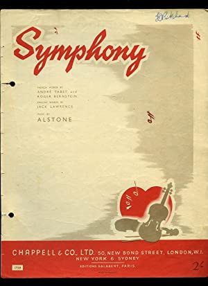 Symphony [Vintage Piano Sheet Music]: French Words by