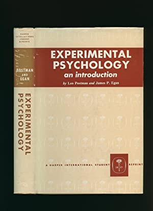 Experimental Psychology: An Introduction: Postman, Leo and