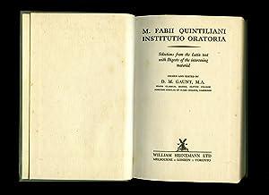 M. Fabii Quintiliani Institutio Oratoria: Selections from: Gaunt, D. M.