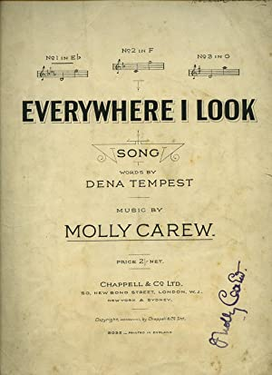 Everywhere I Look [Vintage Piano Sheet Music]: Carew, Molly [Words