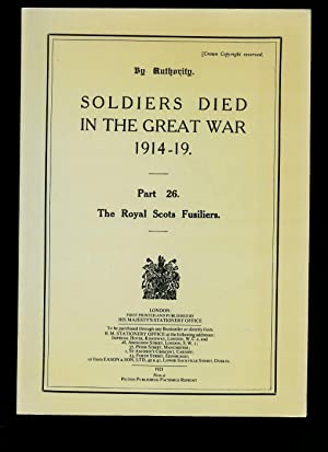 Soldiers Died in The Great War 1914-19