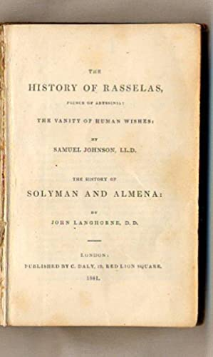 The History of Rasselas, Prince of Abyssinia: Johnson, Samuel and