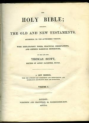 Scott's Bible The Holy Bible Genesis to: Scott, Thomas [Rector