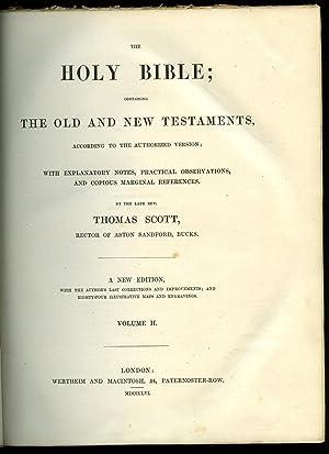 Scott's Bible The Holy Bible Ruth to: Scott, Thomas [Rector