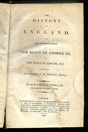 The History of England from the Commencement: Goldsmith, Dr. and