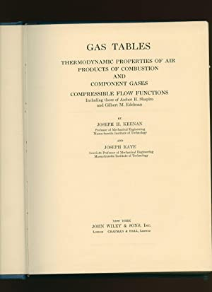 Gas Tables; Thermodynamic Properties of Air Products: Keenan, Joseph H.