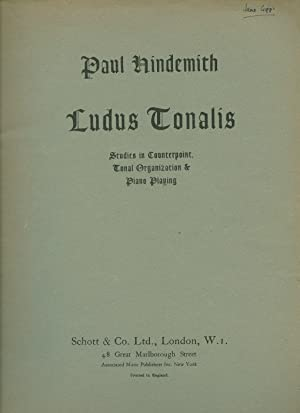 Ludus Tonalis Studies in Counterpoint, Tonal Organization: Hindemith, Paul