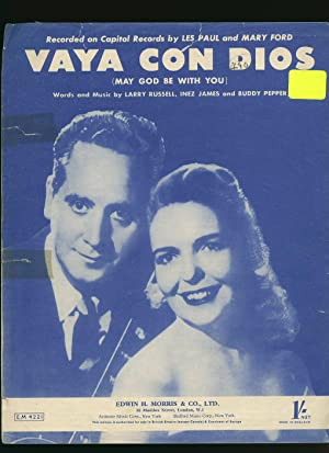 Vaya Con Dios; May God Be With You [Vintage Piano Sheet Music]: Larry Russell, Inez James, and ...