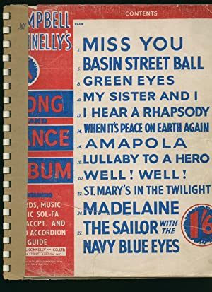 Campbell Connelly's Song and Dance Album Containing: Miss You; Basin Street Ball; Green Eyes; ...