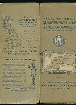 The Royal Automobile Club Quarter-Inch Map of: John Bartholomew]