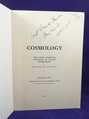 COSMOLOGY: THE NEXT ESSENTIAL DOCTRINE IN HUMAN KNOWLEDGE: Trinca, Frank