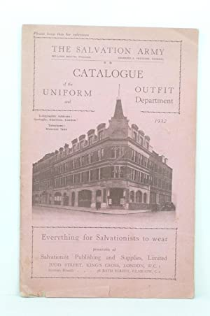 CATALOGUE OF THE UNIFORM AND OUTFIT DEPARTMENT [SALVATION ARMY]: Salvation Army