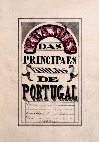 MANUSCRITO - ARMORIAL. SÉC. XIX - PINHO LEAL, Augusto Soares de Azevedo Barbosa.