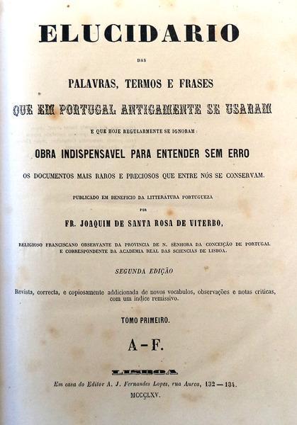 Elucidario Das Palavras Termos E Frases Que